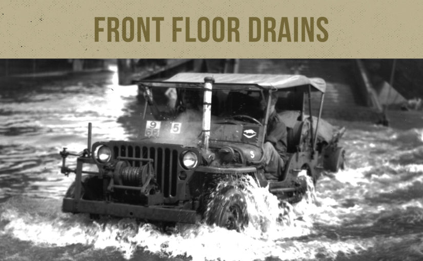 Willys MB / Ford GPW Front Floor Drains