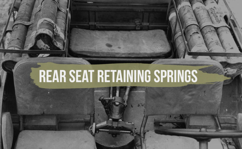 Rear Seat Retaining Springs